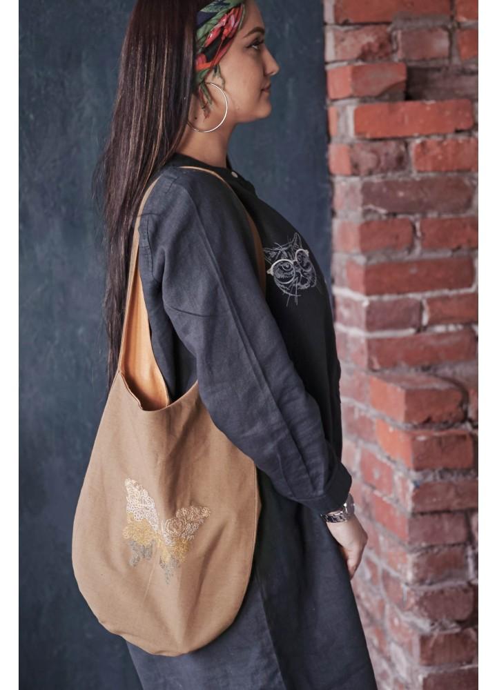 Льняная сумка на плечо Мёбиус