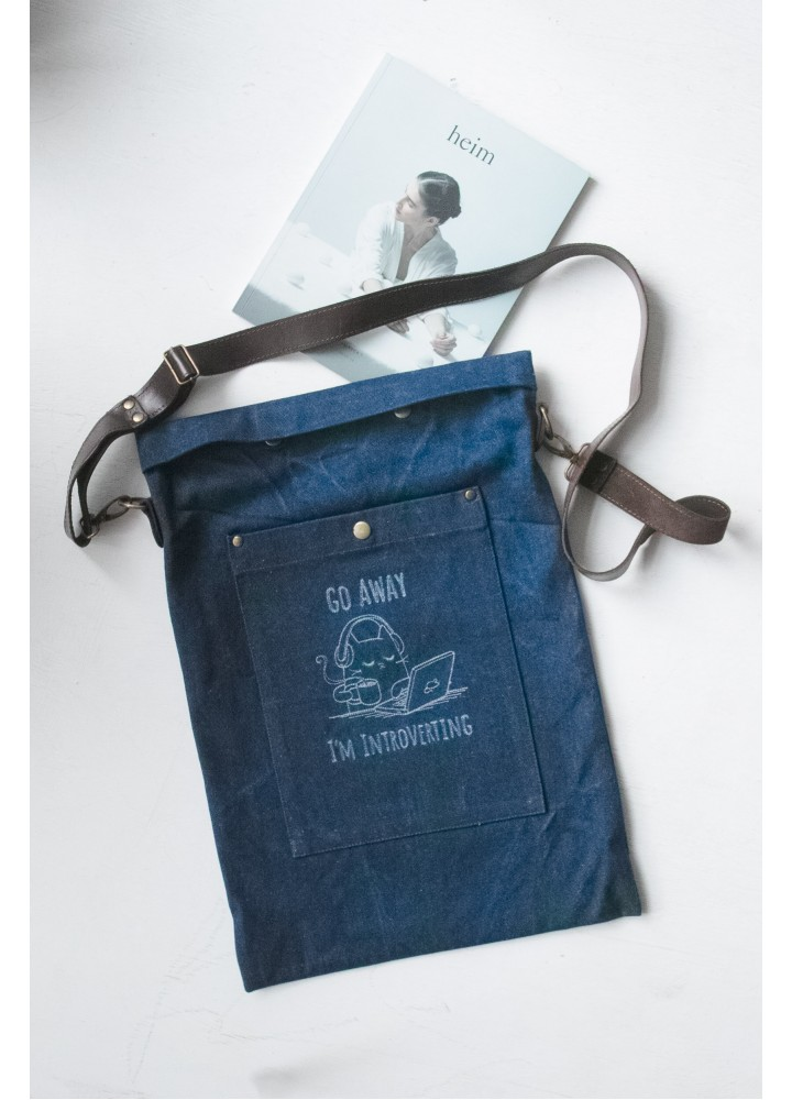 джинсовая сумка через плечо Интроверт