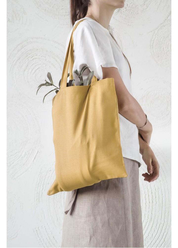 Льняная сумка - шоппер