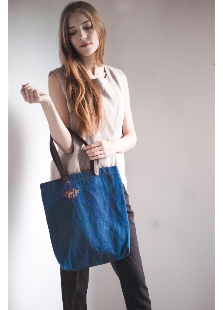 Джинсовая сумка Маки