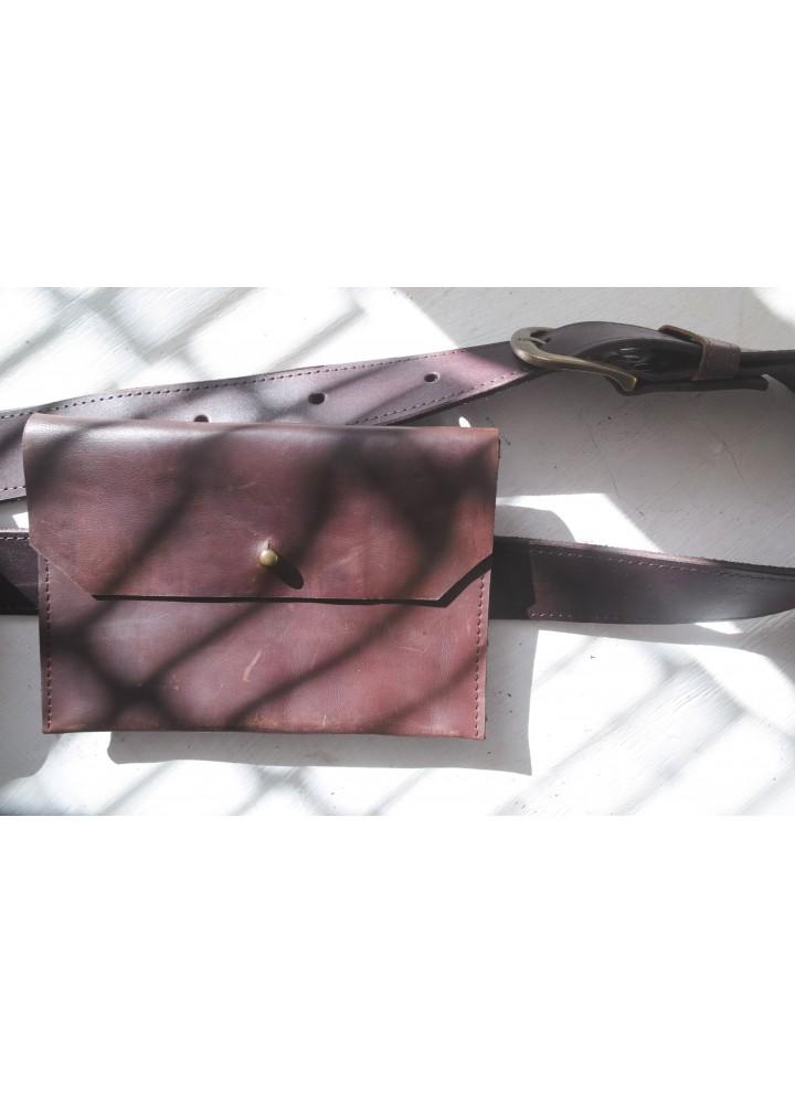 """Поясная сумка из натуральной кожи """"Винтаж"""""""