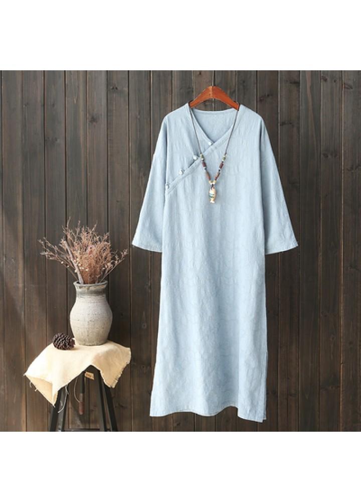 Голубое платье в китайском стиле