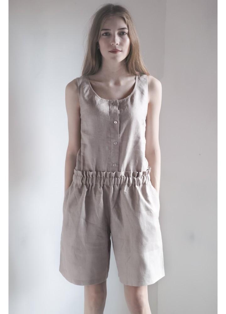 Комплект: шорты и майка из льна
