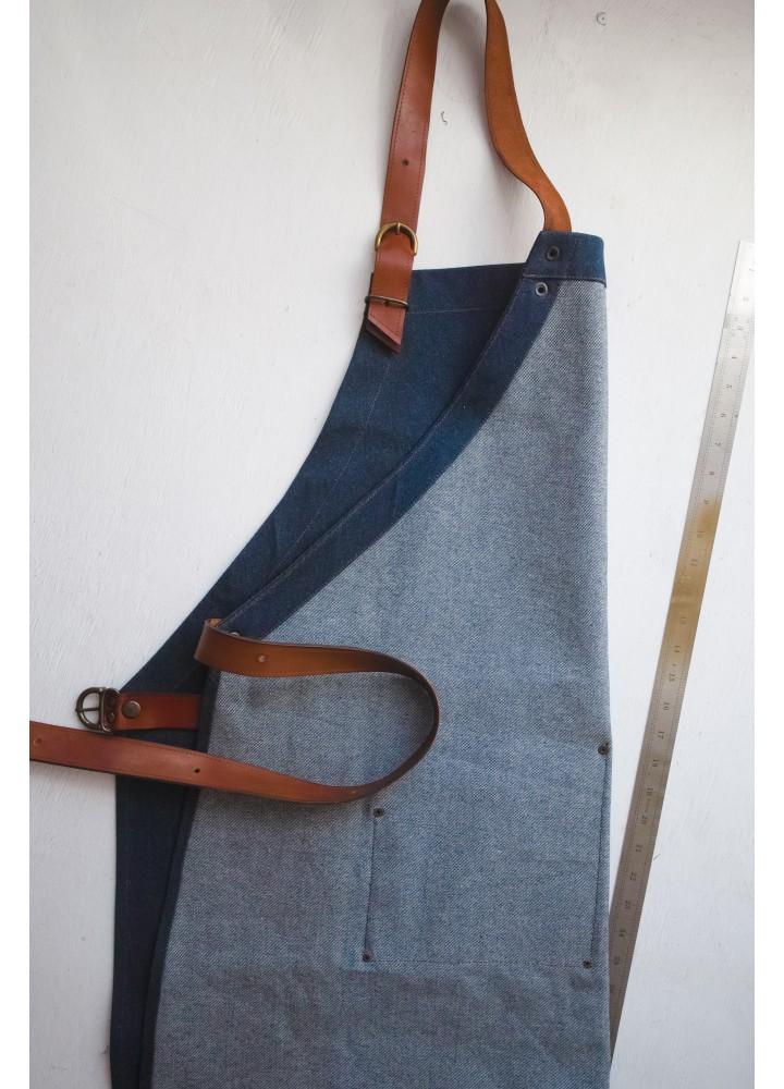 Фартук из плотной джинсовой ткани Шеф