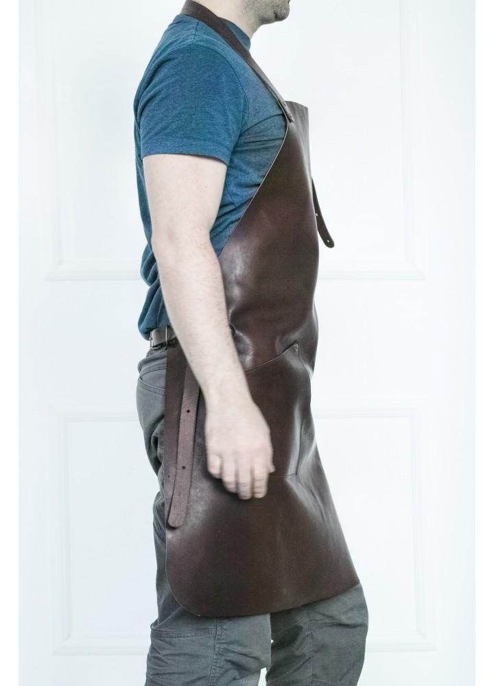 Персонализированный кожаный фартук с именной гравировкой
