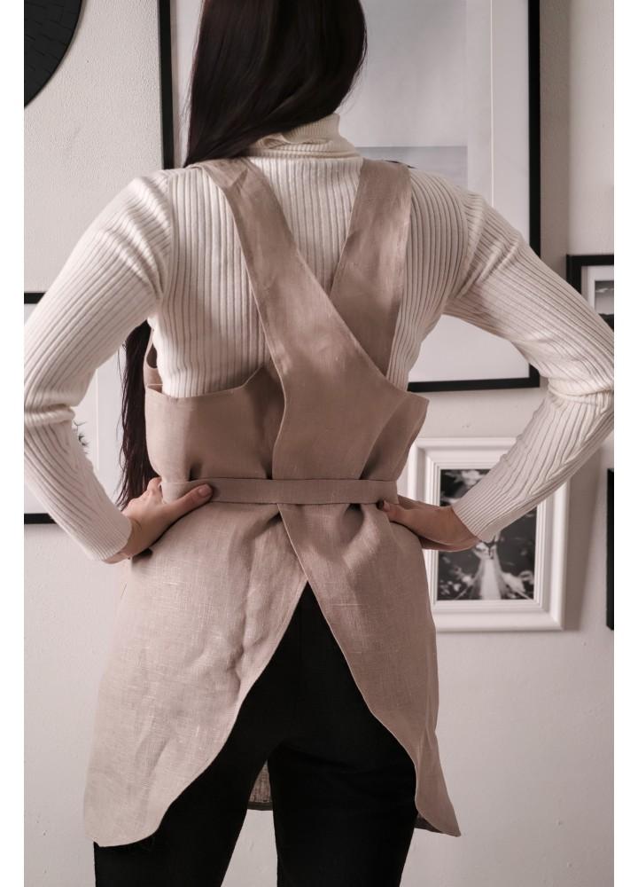 Фартук-платье с поясом
