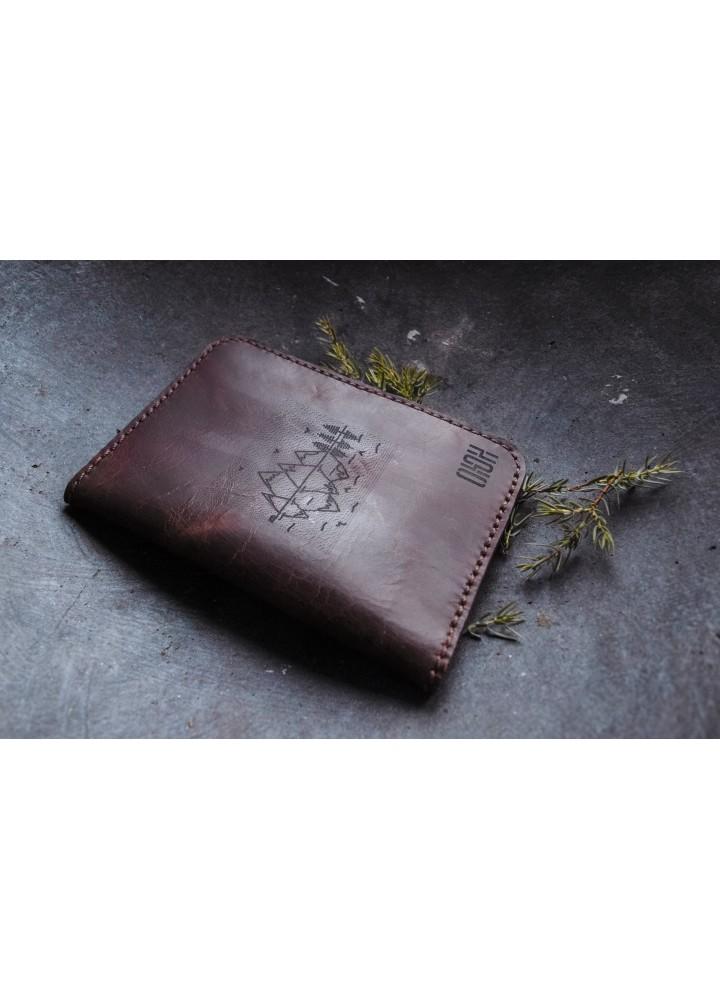 """Именная обложка на паспорт из натуральной кожи """"Крейзи"""""""