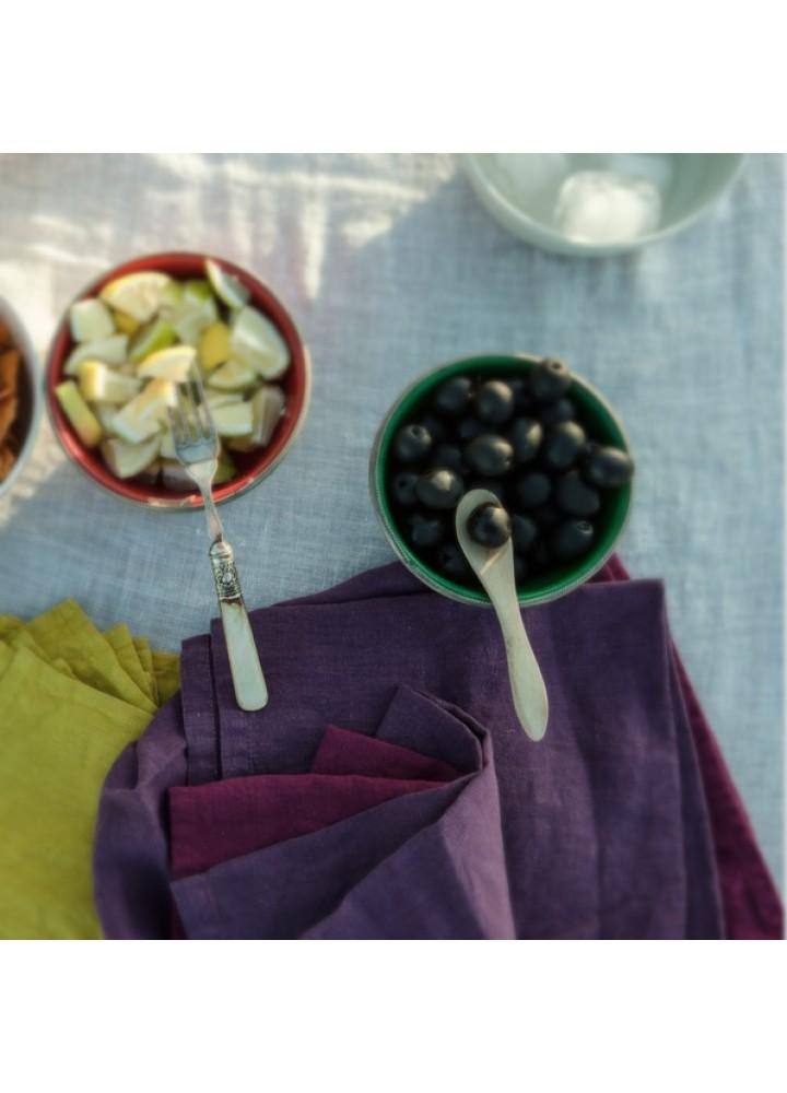 Салфетки из цветного льна