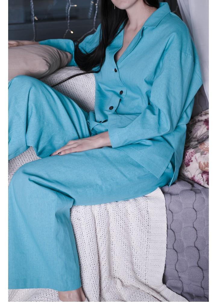 Пижама из натурального льна