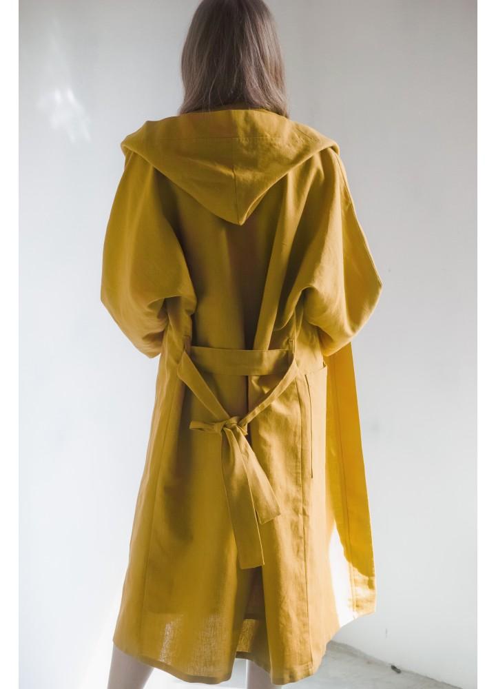 Льняной халат с капюшоном Шерлок