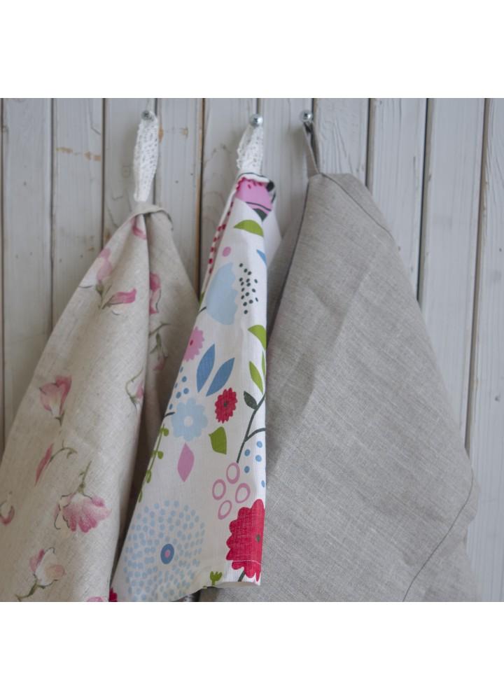 Льняное полотенце с петелькой